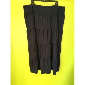 Basic Editions Gypsy Bohemian Tier Skirt Sz 2X